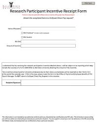 printable  icipant incentive receipt form   http    printable  icipant incentive receipt form   http   resumesdesign com printable participant incentive receipt form