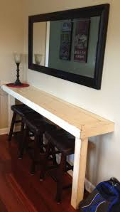 kitchen room pull table: dad built this farmhouse snack bar buffet so nice for a small area
