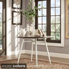modern wood dining room sets: tribecca home belita mid century two tone modern wood dining table