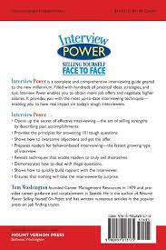 interview power selling yourself face to face tom washington interview power selling yourself face to face tom washington 9780931213175 com books