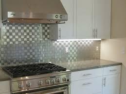 kitchen backsplash stainless steel tiles: image of mosaic stainless steel tile backsplash kitchen