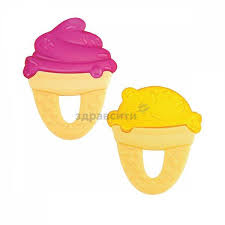 Игрушка-<b>прорезыватель Chicco</b> (Чикко) <b>Fresh</b> Relax Мороженое ...