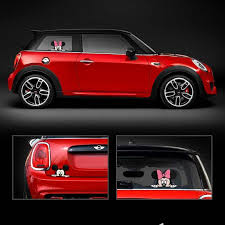 <b>2</b> x Newest <b>Mickey</b> and Minnie Creative Auto Decal <b>Cartoon</b> Car ...