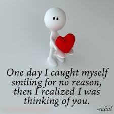 Thinking of you Quotes - One day I caught myself smiling