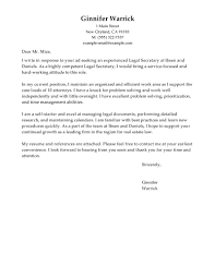 cover letter for secretary template cover letter for secretary