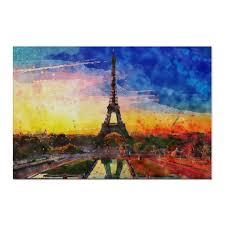 Холст 60×90 Пейзаж акварелью Эйфелева башня #602157 от ...