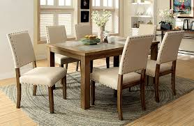 transitional dining chair sch: amazoncom furniture of america lucena  piece transitional dining set table amp chair sets