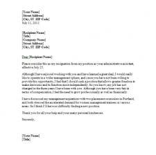 resignation letter due to unsatisfactory work circumstances sample    hostile environment resignation