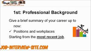 tell me about yourself interview question and answers tell me about yourself interview question and answers