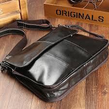 <b>Joyir Genuine Leather Men</b> Briefcase Coffee Color Simple Laptop ...
