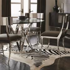 room modern camille glass: sleek modern dining table and chair set with round glass table top sits above a bold