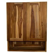 Ecodecors Tranquillity <b>Solid</b> Teak Curvature Teak <b>Bathroom Wall</b> ...