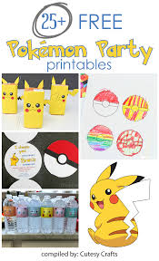 25 pokemon party printables cutesy crafts 25 pokemon party printables