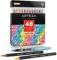 Arteza Real Brush Pens, 48 Colors for Watercolor ... - Amazon.com