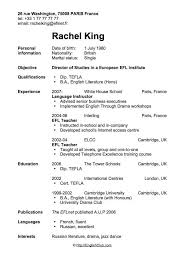 resume example  first time resume examples resume for first time    experience in language instructor experience for first time resume examples