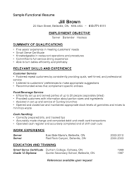 sample functional and summary of qualifications and relevant skill sample functional and summary of qualifications and relevant skill for resume sample bartender
