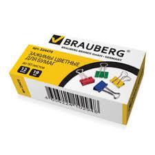<b>Зажимы для бумаг</b> — <b>BRAUBERG</b>