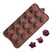New 3D 15-Tulip Flower <b>Silicone Ice</b> Cube Chocolate Cake Cookie ...