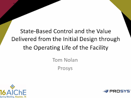 technical presentations ccps center for chemical process safety state based control and the value delivered from the initial design through the operating life of the facility conference presentation
