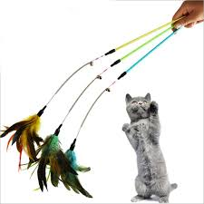 <b>Colorful</b> Cat Toys <b>Feather</b> Wand With Bell <b>Cat Teaser Feather</b> ...