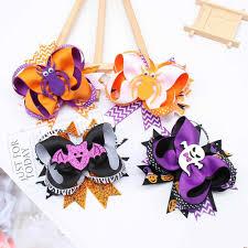 5Pcs/lot Mini <b>Cute Glitter</b> Hair Clips for Women Handmade Pumpkin ...