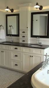 though i dont love this style i like the way the double vanity bathroom vanity barnwood mirror oyster pendant lights