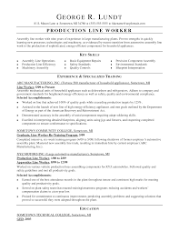 doc sample resume for factory worker com doc 12751650 resume factory worker s worker lewesmr