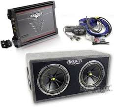 kicker zx300 1 dc122 ck8 06zx3001 05dc122 one low price for kicker combo zx300 1 amplifier dc122 comp subs box ck8 amp kit