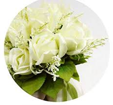 Wedding Bouquet Rice White, Champagne <b>Roses Korean</b> Bride ...