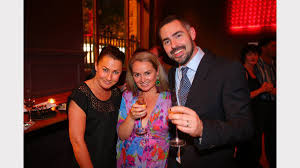 mega gallery party pictures newcastle herald bar co owner patrick haddock right his wife lisa reynolds centre