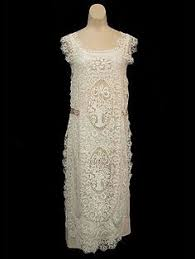 1920s White <b>Net Gauze</b> Embroidered Dress (<b>very</b> pretty :) ) Vintage ...