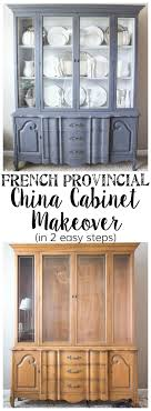 ideas china hutch decor pinterest: french provincial china cabinet makeover in  easy steps blesserhousecom