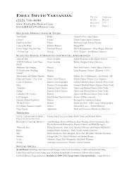 theatre resume template com theatre resume template