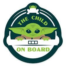 The <b>Child ''On Board</b>'' <b>Car</b> Magnet – Star Wars: The Mandalorian ...