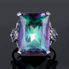 Diamond <b>Mystic</b> Topaz Costume Rings for sale | eBay