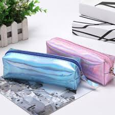 <b>Holographic</b> Iridescent <b>Laser Pencil Case</b> Gift For Children Pu Cute ...