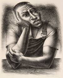 kelley collection works on paper exhibition art portrait john woodrow wilson native son 1945 lithograph