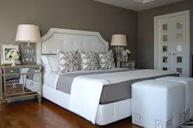 wonderful white grey wood glass cool design interior wall painting bedroom grey wall white wood bed bedroom grey white