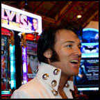 Pete Storm at Elvis The King Slot Machine Debut: The Elvis The King slot machine got a lot of attention at the recent 2012 ICE Totally Gaming Show in Earls ... - eta_petestorm