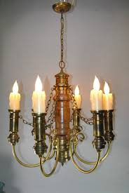 large six arm gothic revival brass and wood amazing wooden chandelier