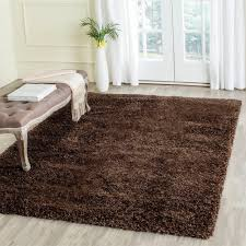 safavieh california shag brown 4 ft x 4 ft square area california shag black 4 ft