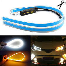 2x 60cm Car Sequential Headlight LED Strip <b>Lights Dynamic Turn</b> ...