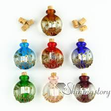 small glass vials for necklaces miniature hand blown glass bottle charms jewellery miniature glass jars assorted blown glass bottle pendant