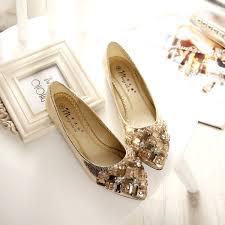 <b>2016 Fashion</b> Women Shoes Rhinestone <b>Pointed</b> Toe Flats Bow ...