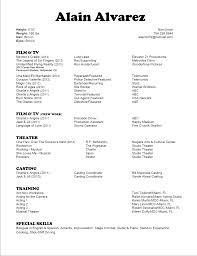 film acting resumes template film acting resumes