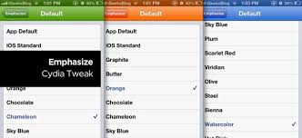 emphasize cydia tweak change color scheme theme