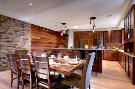 kitchen and dining example of a trendy l shaped eat in kitchen design in toronto with bedroom mood lighting design