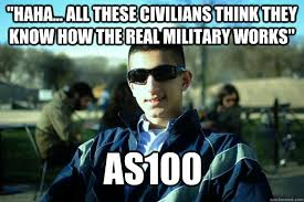 Haha... All these civilians think they know how the real military ... via Relatably.com