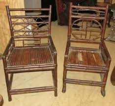 pair antique chinese bamboo arm chairs china trade chinese bamboo furniture