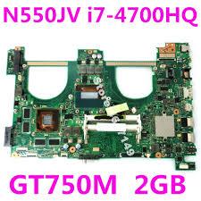 <b>N550JV i7 4700HQ</b> SR15E <b>GT750M</b> 2GB Mainboard For ASUS ...